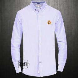 ~US Polo Assn Sky Blue Button Down Solid Shirt With Chest Embroidery