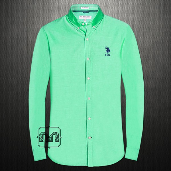 dbbe4a77 ~US Polo Assn Men Green Button Down Casual Shirt With US Polo Chest  Embroidery On Pocket | Malaabes Online Shopping Store in Egypt Promoting  Original Mens ...