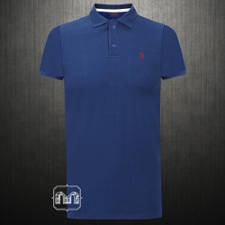 ~US Polo Assn Navy Polo Tshirt Small Pony Logo In Red