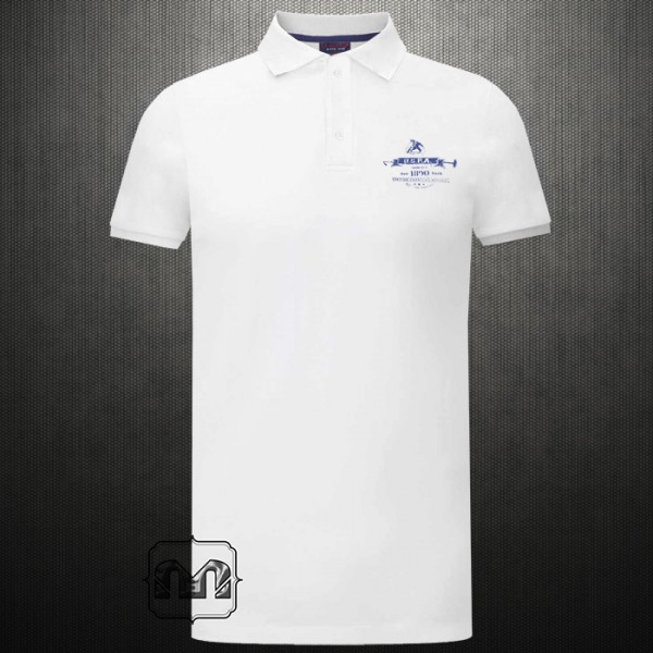 Us Polo Assn White Polo Tshirt With Left Chest Horse Logo Print