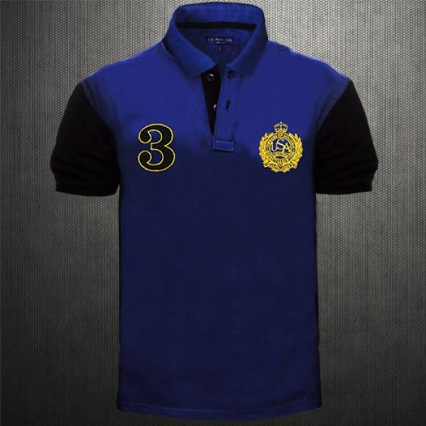Uspa black shirt is shirt for Polo shirt logo design