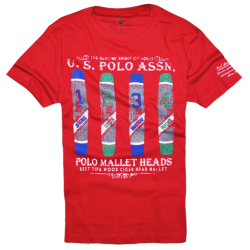 ~US Polo Assn Red Printed Tshirt