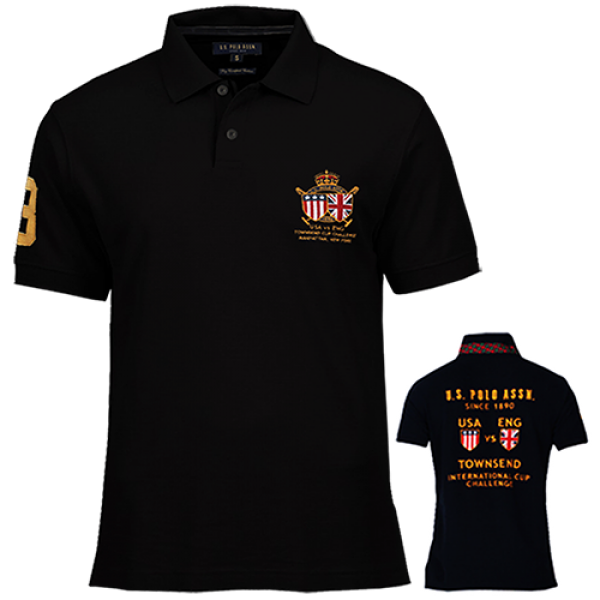 264c24c5e ~US Polo Assn Black Polo Tshirt With Embroidery On Chest And Embroidery On  Back | Malaabes Online Shopping Store in Egypt Promoting Original Mens  Designer ...
