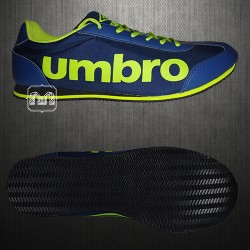 ~Umbro Blue Fluroscent Yellow Casual Trainers Shoes