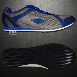 ~Umbro Grey Blue Casual Trainers Shoes