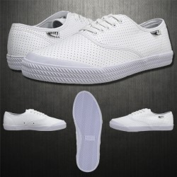 ~Volley Mens OC White Leather Lowcut Sneaker Shoes