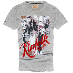~Wrangler Kinfolk Grey Printed Graphic Tshirt
