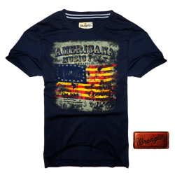 ~Wrangler Roundneck Navy Printed Short Sleeve Tshirt