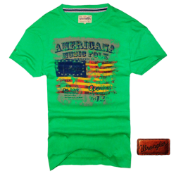 ~Wrangler Roundneck Green Printed Short Sleeve Tshirt