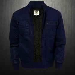~Wrangler Navy Blue Quilted Front Zippered Coat  Jacket