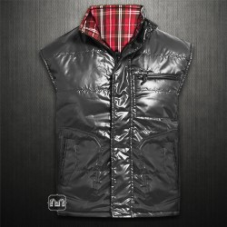 ~Wrangler Grey Red Checkered Taylor Reversible Vest Jacket