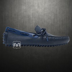 ~Zara Man Genuine Leather Blue Driving Loafers Shoes