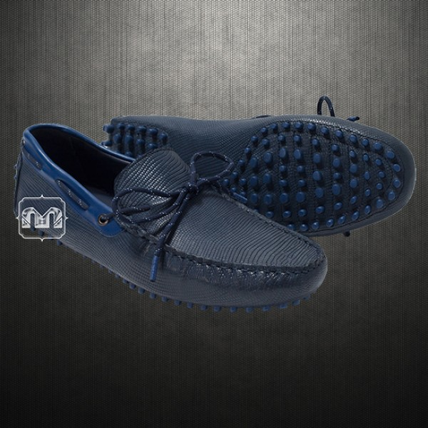 cf4c85280ae Zara Man Genuine Leather Blue Driving Loafers Shoes