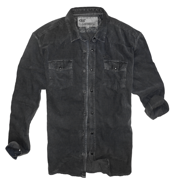 s oliver qs corduroy long sleeve charcoal grey shirt malaabes online shopping store in egypt. Black Bedroom Furniture Sets. Home Design Ideas