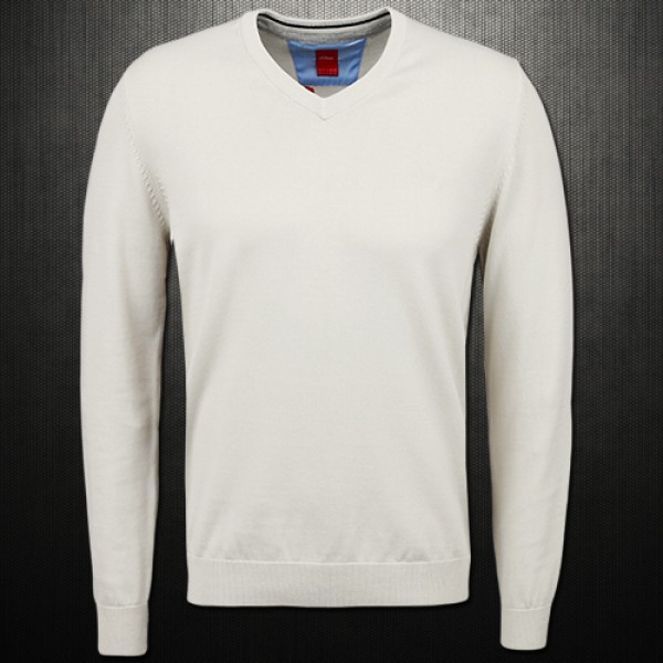 finest selection 8b689 2f4e7 s Oliver Tricot White V Neck Sweater Jumper | Malaabes ...