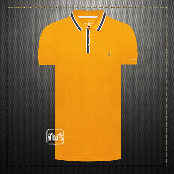 77d0309f4 ~Harmont & Blaine Jeans Yellow Pique Tipped Polo Shirt With HBJ Chest Logo  Embroidery