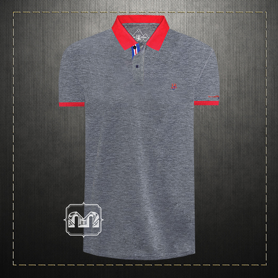 18ae12b74 Harmont & Blaine Jeans HBJ Men Cotton Two Toned Melange Grey Polo Shirt  With HBJ Chest Logo Embroidery | Malaabes Online Shopping Store in Egypt  Promoting ...