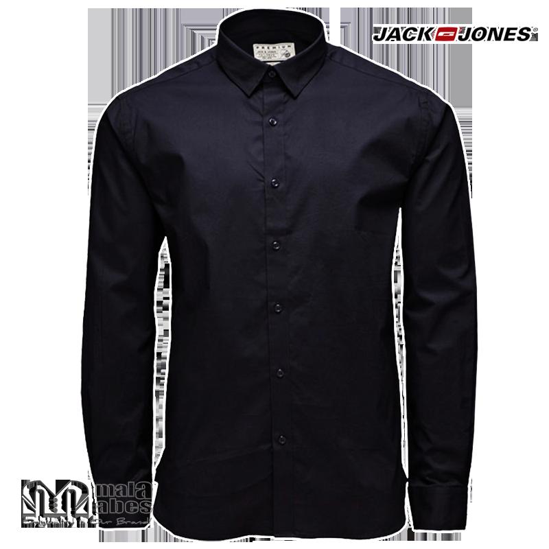jack jones noos premium black stretch shirt malaabes. Black Bedroom Furniture Sets. Home Design Ideas