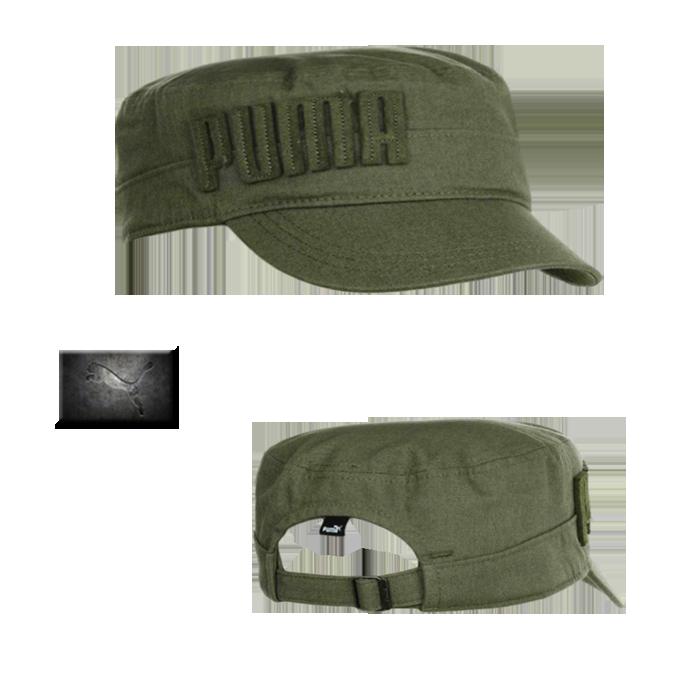 ~Puma Simon Military Cap Olive Green  b359b5eb6ab
