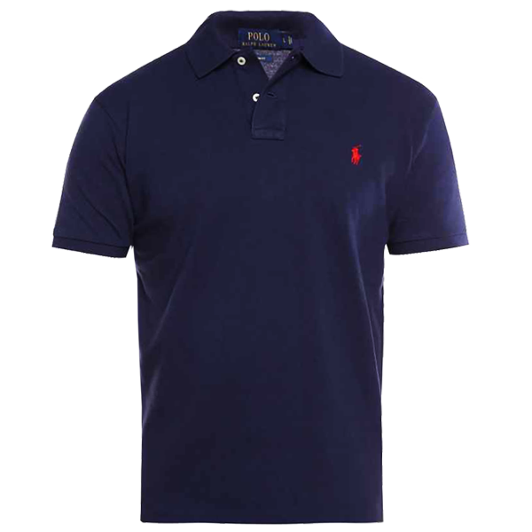 Ralph Lauren Small Pony Short Sleeve Polo Shirt In Navy
