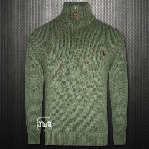 Half Zip Olive Lauren With Polo Fit Ralph Custom Sweater Green eBoErQCxWd