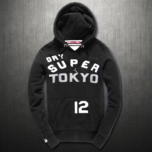 Superdry TOKYO 12 Black Hoodie  563894b0db
