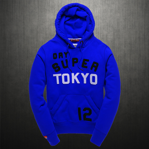 Superdry TOKYO 12 Sky Blue Hoodie  a3535db7f0