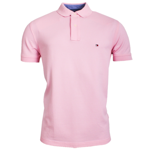 ~Tommy Hilfiger New Knit Light Pink Polo | Malaabes Online ...