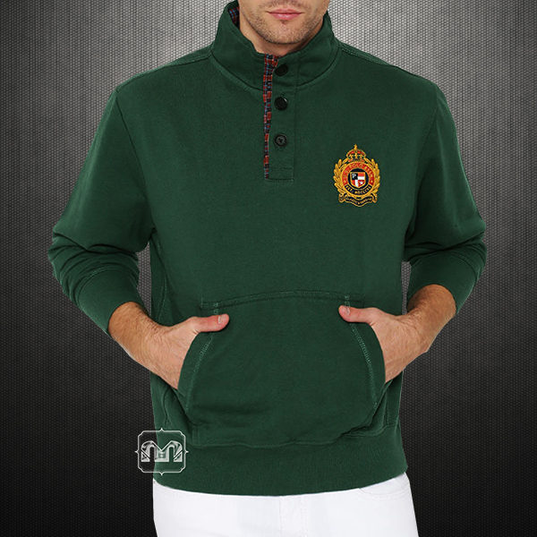 807860c83 ~US Polo Assn USPA Men Green Buttoned Sweater With Chest Embroidery   Elbow  Patches